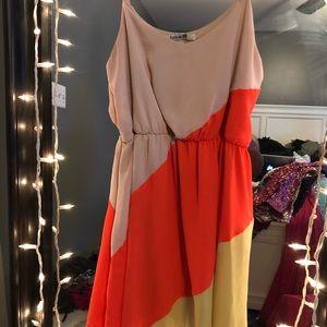 Multicolored Mini Dress